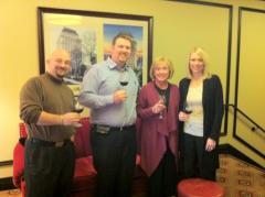 Part of the WineTable team: Jeff Cameron, Paul Giese, Sandy Becker, Janessa Meyer