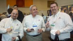 The WineTable team tasting some vino at the Symposium.
